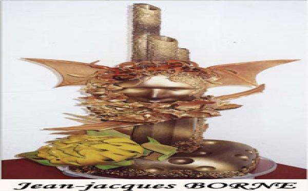 Pièce artistique en chocolat de Jean Jacques Borne