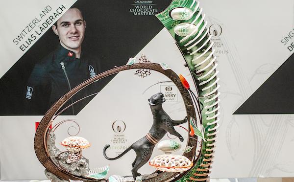 Elias Läderach, champion du monde en chocolat.