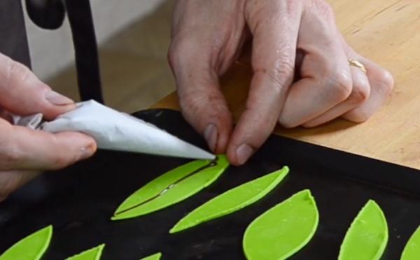 Les techniques du Sapin design de Noël en chocolat