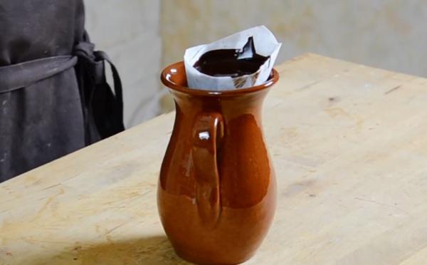 La technique de réalisation des copeaux chocolat