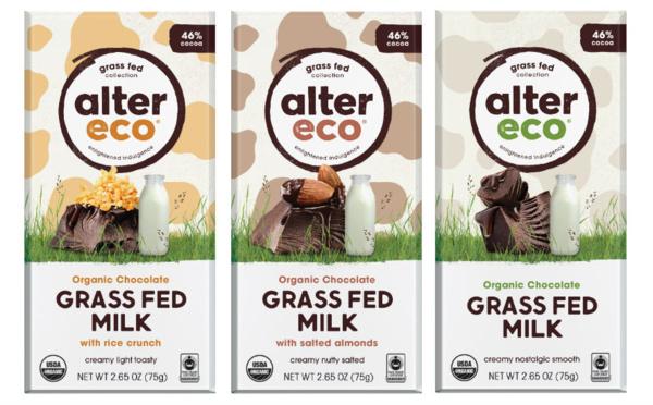 Du chocolats au lait nourris à l'herbe chez AlterEco USA