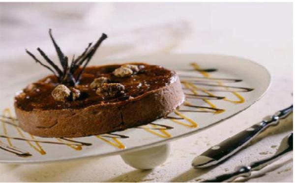La tarte au chocolat et Pineau des Charentes