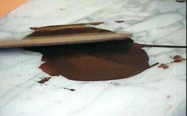 Réalisation du cornet tout chocolat