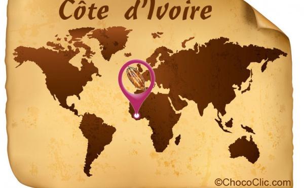 La provenance des fèves de cacao de Côte d'Ivoire en Afrique