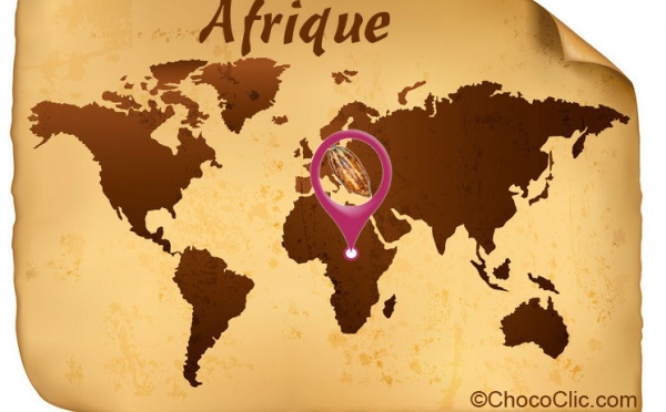 La provenance des fèves de cacao d'Afrique