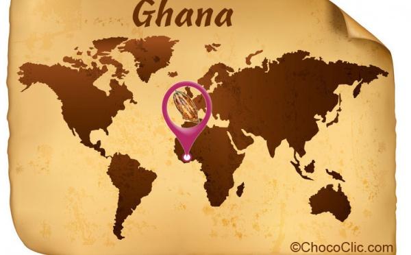 La provenance des fèves de cacao du Ghana en Afrique