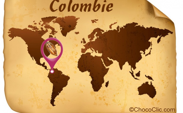 La provenance des fèves de cacao de Colombie
