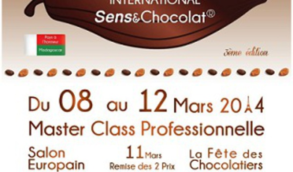 Master Class Professionnelle du 3e Festival Culturel International Sens & Chocolat : pôle d'informations et concours Qualité, Sensoriel & Goût