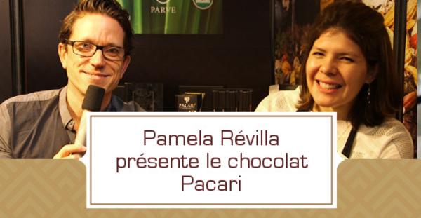 Pamela Révilla présente les chocolats Pacari