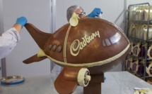 L'avion de Cadbury atterrit à l'Aéroport de Birmingham