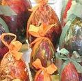 Oeufs en chocolat décorés