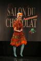 Charlotte Marin au défilé du salon du chocolat