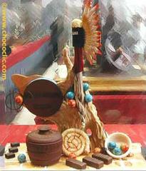 Pièce artistique en chocolat n08