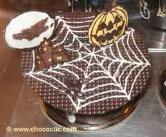 Toile d'araignée en chocolat