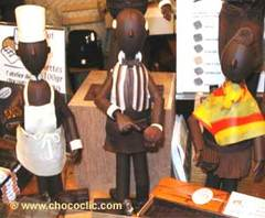 Personnages en chocolat