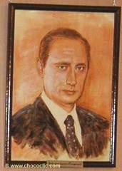 Tableau en chocolat Vladimir Poutine