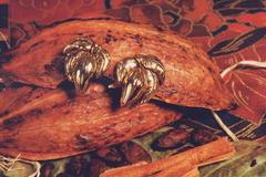 Boucles d'oreilles en or fin cabosse n5