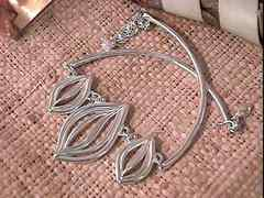 Collier argent cabosses n2