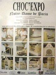 Affiche de Notre dame de Paris en chocolat