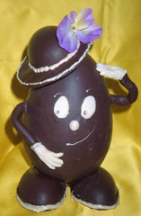 Personnage en chocolat
