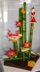 Mulan et son dragon en chocolat
