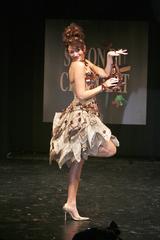 Rachel Legrain-Trapani au défilé du salon du chocolat
