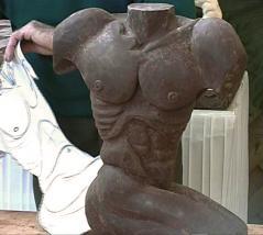 Buste sculpté en chocolat