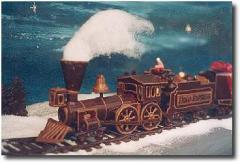 Train à vapeur au chocolat