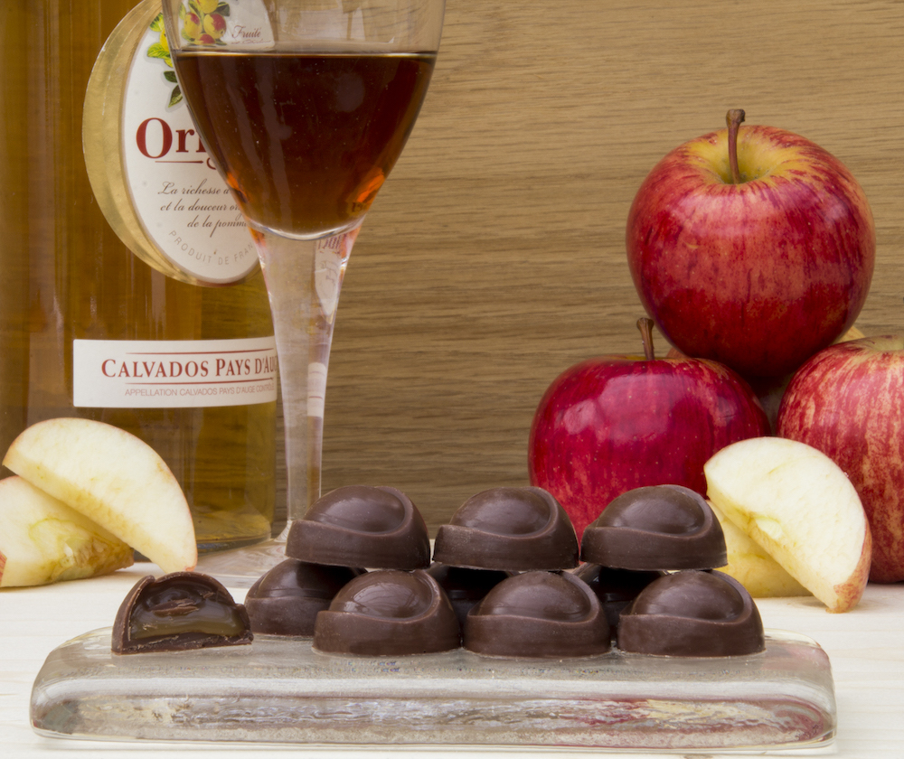 Fifth Dimension Chocolates filled chocolates apple _ calvados caramel New York©