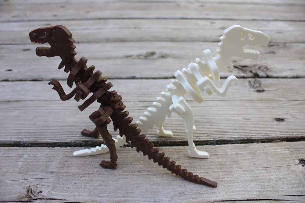 Deux dinosaures©Chocolate Construction